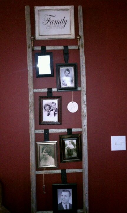 Black and white photo project using old barn ladder.