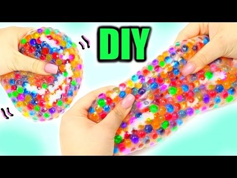 SUPER SQUISHY STRETCHY BALL! DIY Orbeez Stress Ball! - YouTube YouTube Pinterest Slime ...