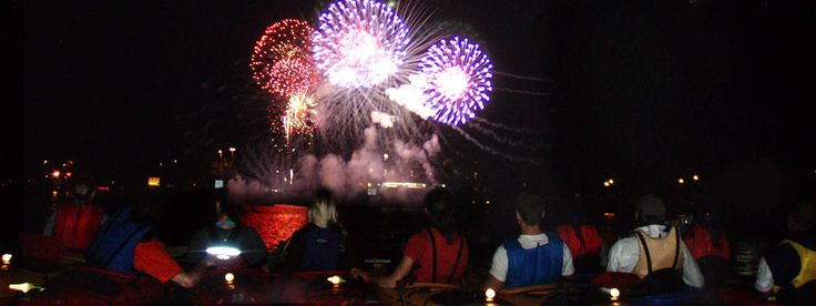 A fun way to view the Navy Pier fireworks during the summer months -- while kayaking on the Chicago River!