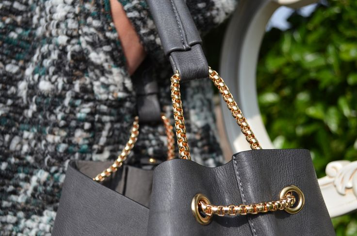 Lorella Garbi Coat £150, Real Leather Bag £50