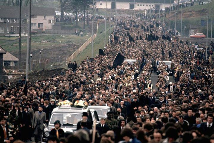 Bobby Sands, MP, Funeral cortege