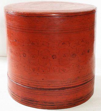 Asian Decor: Antique Burmese Lacquerware Boxes asian-decorative-boxes