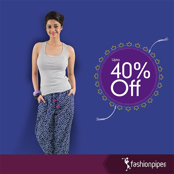 #Rakhi special #gifts Order this blue printed trouser for just 899! VISIT LINK:- http://www.fashionpiper.com/women/western-wear/women-bottom-wear/print-stint-trouser-1383.html