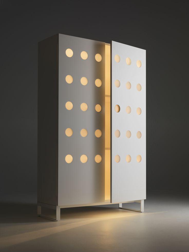 Moony #HORM.IT #ToyoIto #minimalist #structure #cupboard #design #light #shadow #circle #geometric #shape #wanteddesign #nycxdesign #nycxd