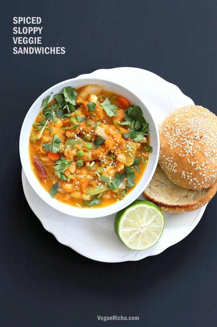Veg Kolhapuri Recipe - Veggies in Sesame Coconut Tomato Kolhapuri Sauce. Use up the leftover veggies in this flavorful sauce.