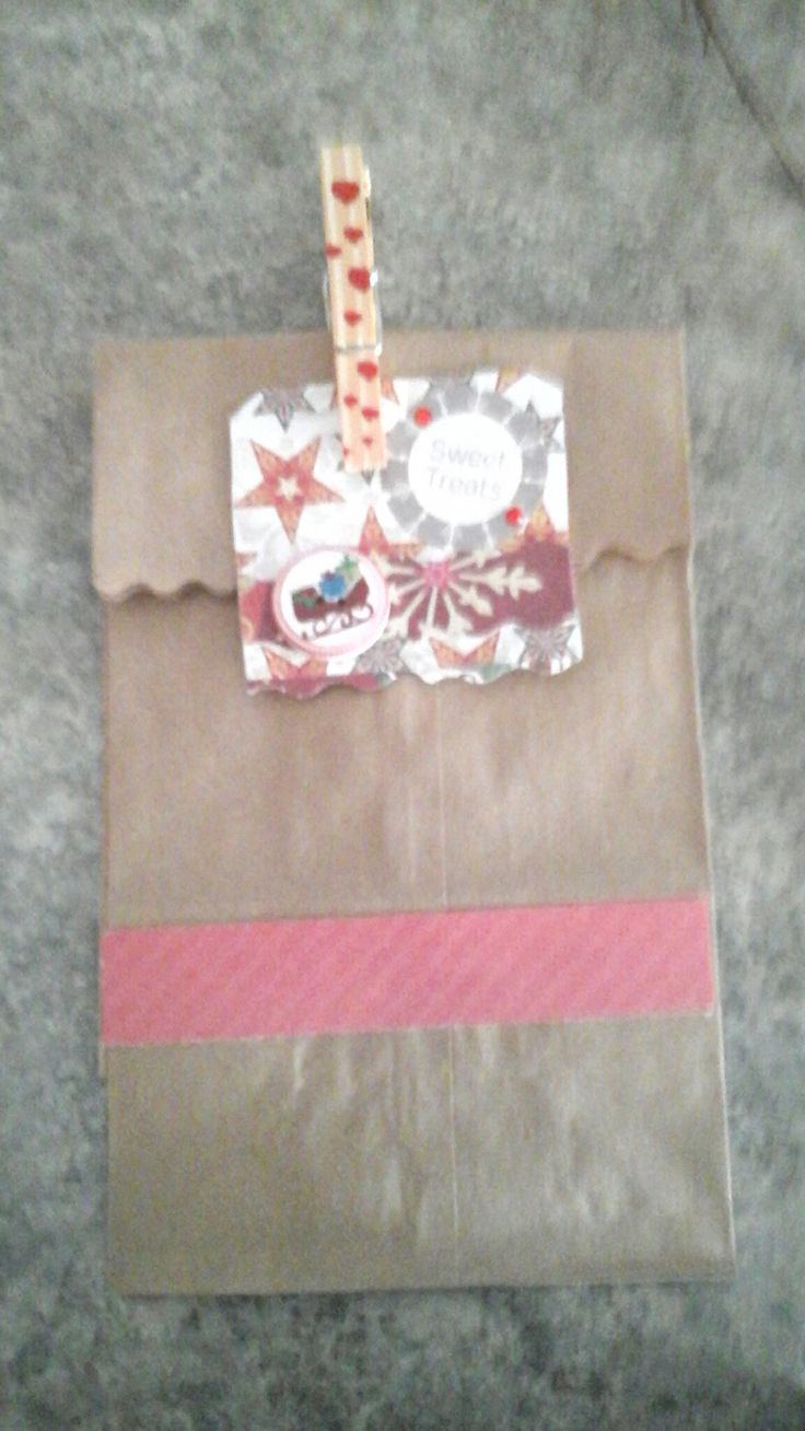 brown paper  bags  decorated.....fill with baking.
