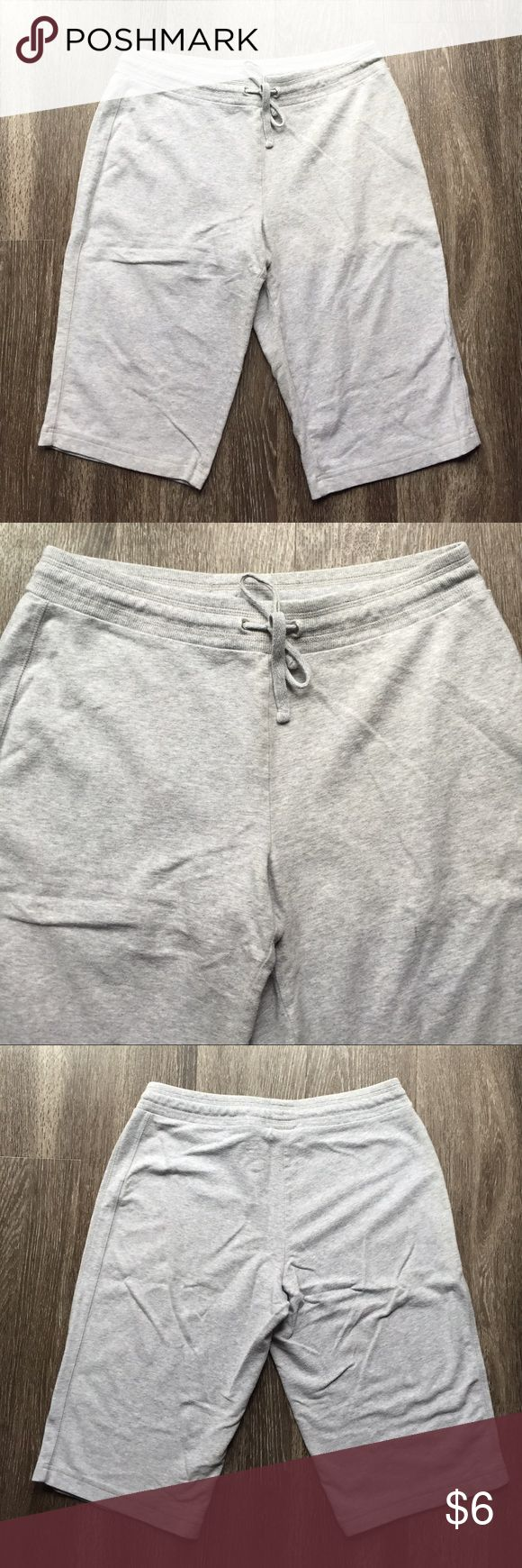 Gray Athletic Bermuda Shorts Gray bermuda shorts in a lightweight sweatpant material! Cute and comfortable! Some pilling between legs, but in good condition otherwise! Style & Co Shorts