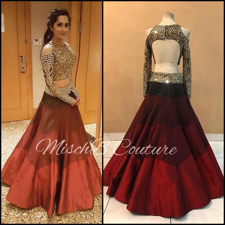 Shine, like the whole universe is yours! @rtbudhrani looking glam in MischB Couture