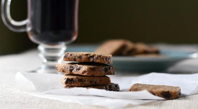 Chocolate Espresso Bean Shortbread Cookies | Desserts&Sweets-Cookies ...