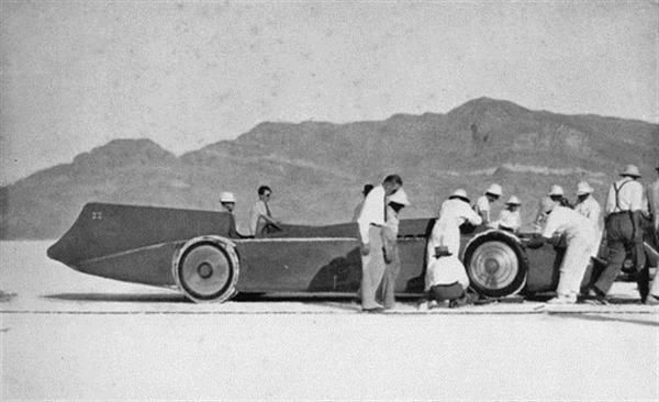 On September 3, 1935, Sir Malcolm Campbell becomes the first person to drive an automobile over 300 miles an hour. (He reached 304.331 MPH.)