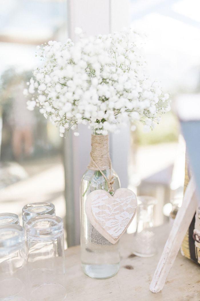 Esta flor blanca pequeñita(paniculata) queda bien con todo, pero con la cuerda, el cristal y el corazon en madera...combinacion perfecta!!!
