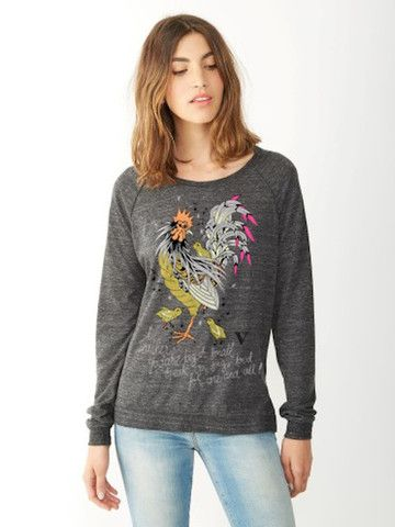 Speak Up Pullover in Heather Black [Benefit for Our Hen House] - VauteCouture