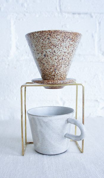 :: Brass Coffee Dripper Stand, so simple and beautiful