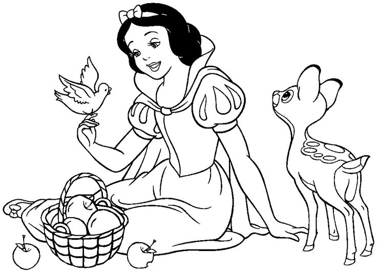 26 best Snow White Coloring Pages images on Pinterest | Kids net ...