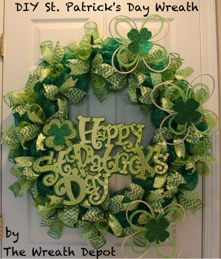 DIY St. Patrick's Day Wreath Tutorial