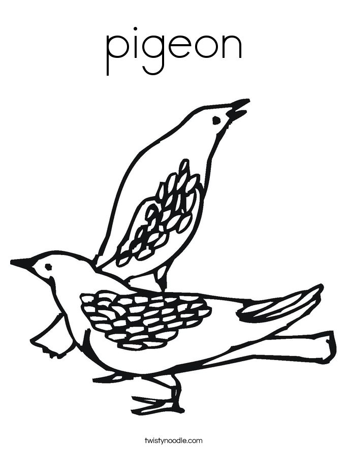 coloring pages pigeon - photo#34