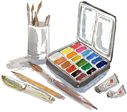 Watercolor Supplies For Beginners Watercolour Tutorials Doodle