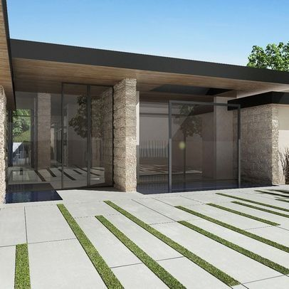 modern concrete paving designs landscape california - Google Search