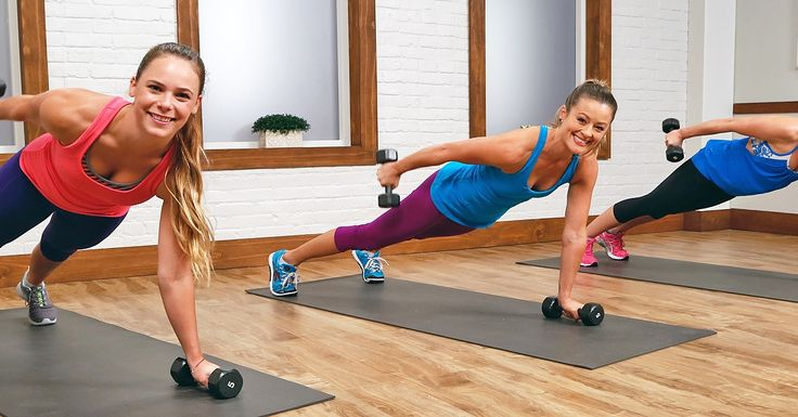 Sculpted arms are always in season, so it's time to say adios to the arm jiggle. Here's a 10-minute workout to tone your arms with extra focus on the triceps. Grab a set of dumbbells, from three to five pounds, and get ready to bare arms.