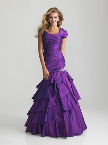 Modest Prom Dresses probably not purple.. but i like the style!