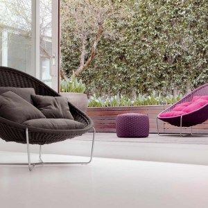 Synthetic yarn outdoor furniture