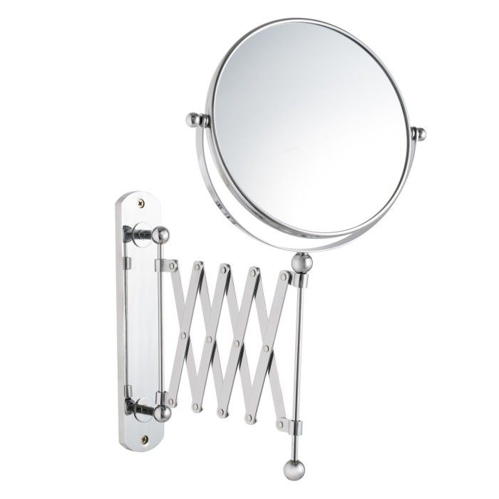 John Lewis Bathroom Extendable Magnifying Wall Mirror Product Code Dimensions X Chrome