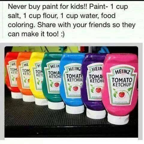 Homemade paint, im so doing this this summer for the boys!