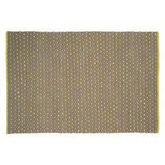 STEPHENS Small grey and yellow rug 120 x 180cm