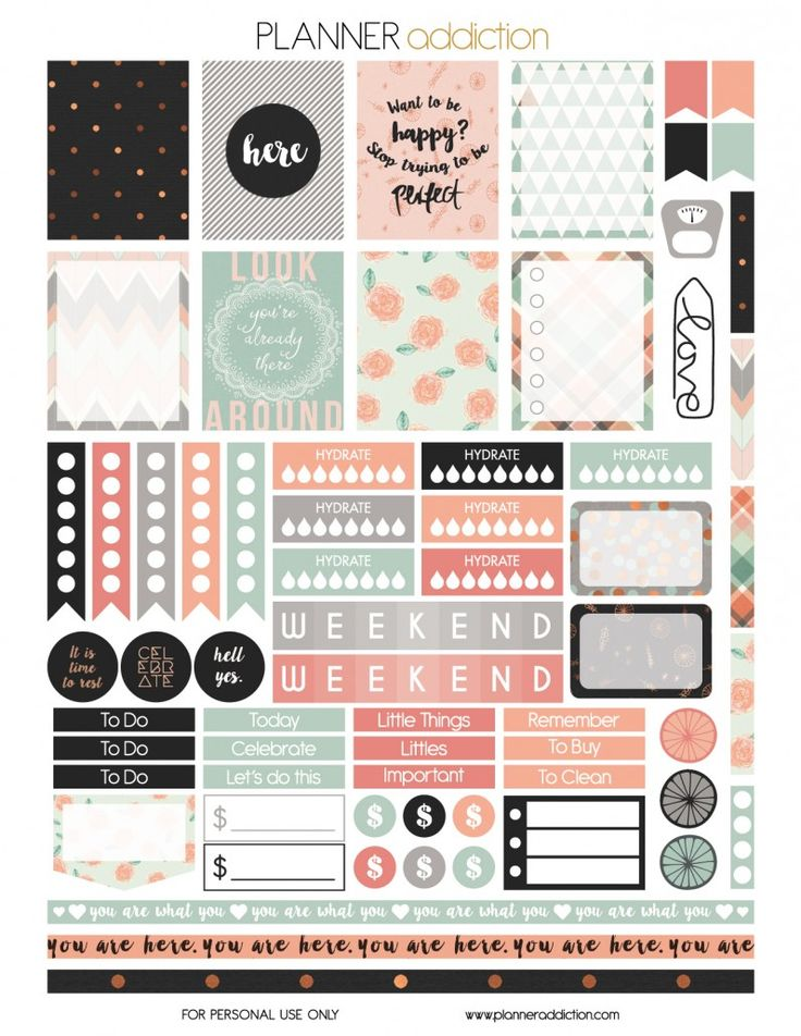 FREE You are here Free Printable Planner Stickers