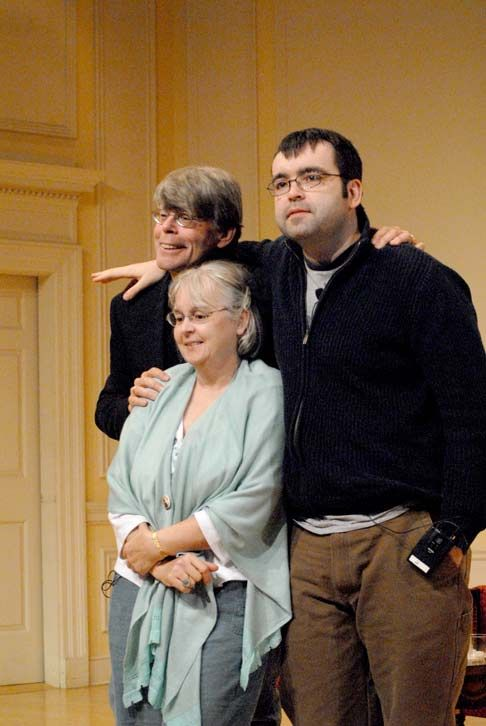 Stephen King, Tabitha King and youngest son Owen King.