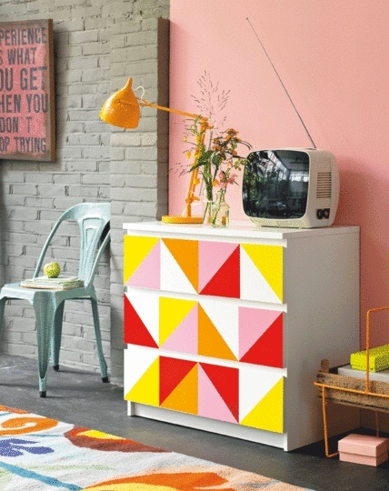 DIY IKEA malm colorful upgrade