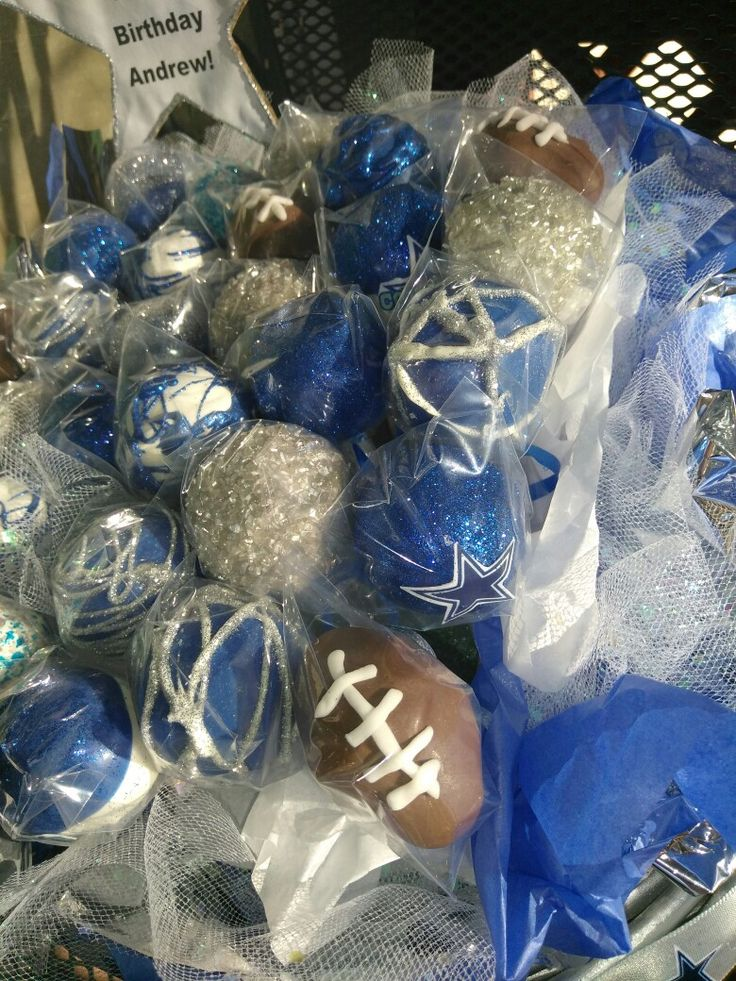 #dallas cowboys #football #glitter #bling  #cake pops search me on Facebook @cakesations76028