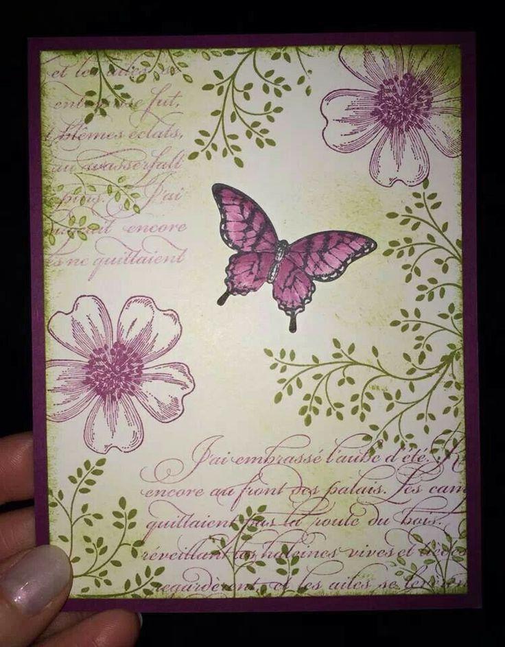 Flower Shop, Thoughts & Prayers, En Francais, Papillon Potpourri. Beautiful - pretty for sympathy card