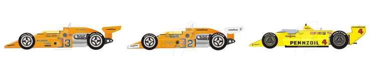Johnny Rutherford 1974, 1976, 1980