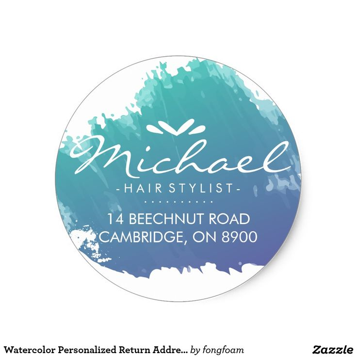 Watercolor Personalized Return Address Label