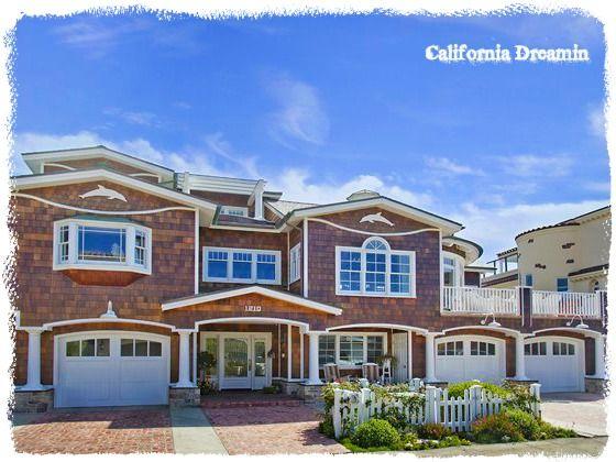 Beach House - California Dreamin In Ocean Blue & White