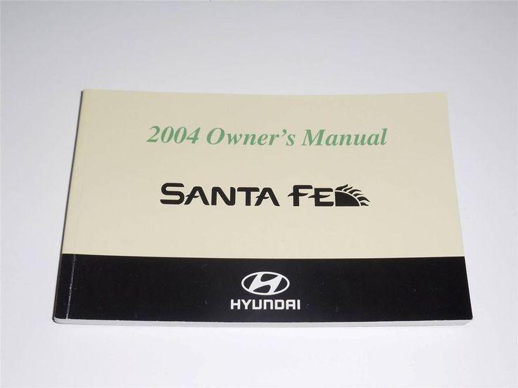 2004 Hyundai Santa Fe Owners Manual Book Guide