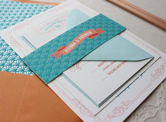 best 25+ retro wedding invitations ideas on pinterest | postcard, Wedding invitations