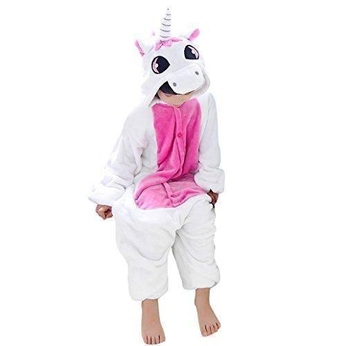 Oferta: 36.99€ Dto: -22%. Comprar Ofertas de Happy cherry - Pijama Ropa de dormir de Franela Disfraz de Animal Unicornio para Niños niñas - Rosa - Talla 95 barato. ¡Mira las ofertas!