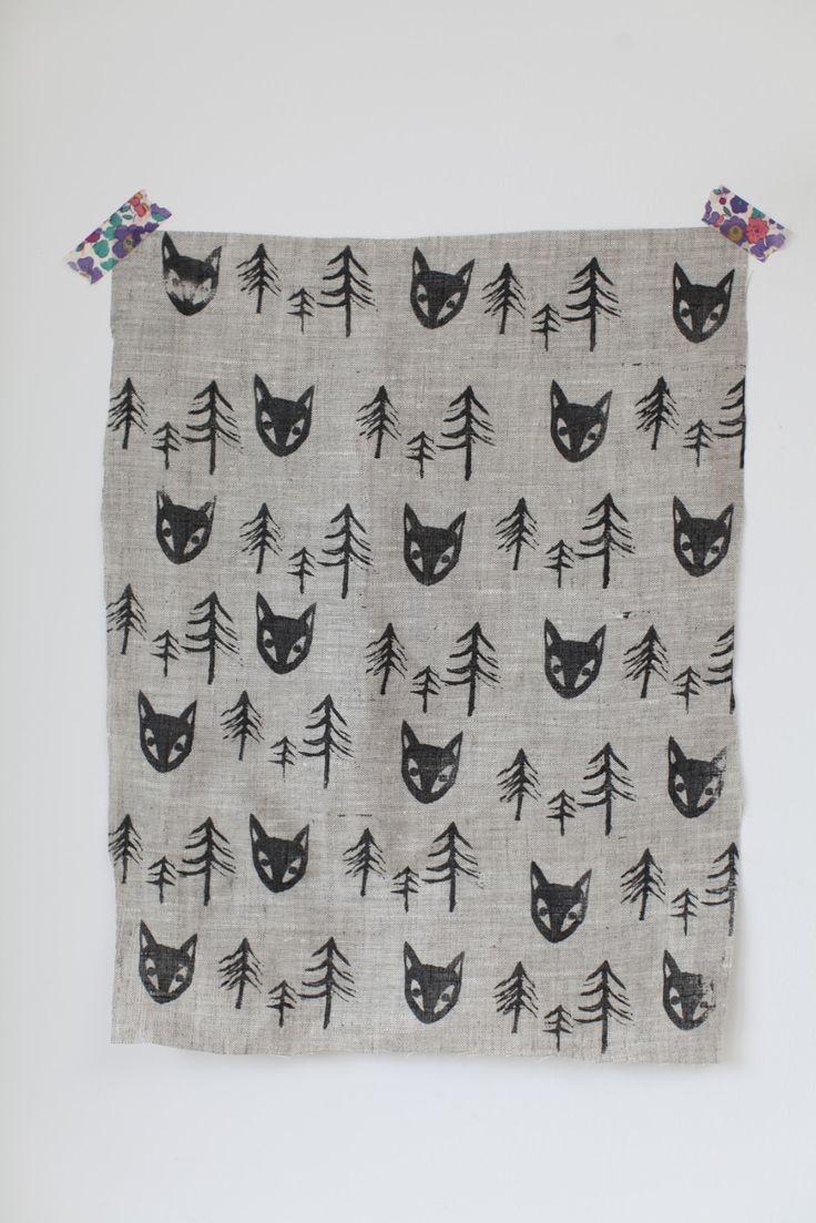 Hand printed fabric - j u n k a h o l i q u e                                                                                                                                                                                 More