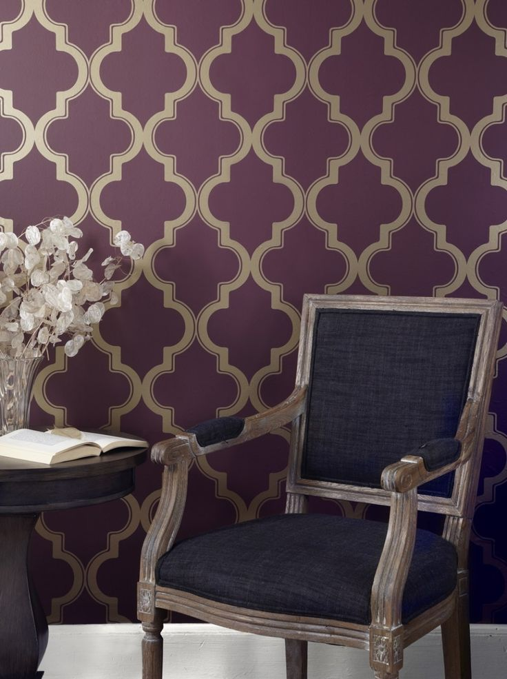 Your Marrakesh Merlot Removable Wallpaper By Tempaper Here Decorate Room The Easy Way With Self Adhesive Temporary And Repositionable