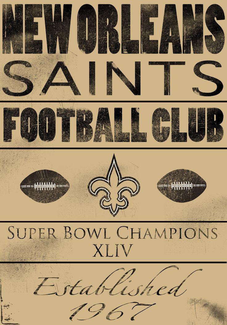New Orleans Saints Vintage Football Wood Print 14x20 by Studiojones1 on Etsy https://www.etsy.com/listing/79002781/new-orleans-saints-vintage-football-wood