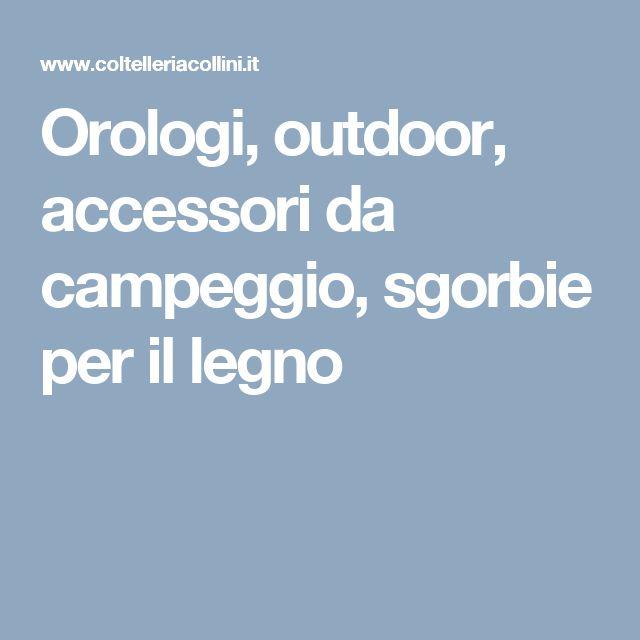 Orologi, outdoor, accessori da campeggio, sgorbie per il legno