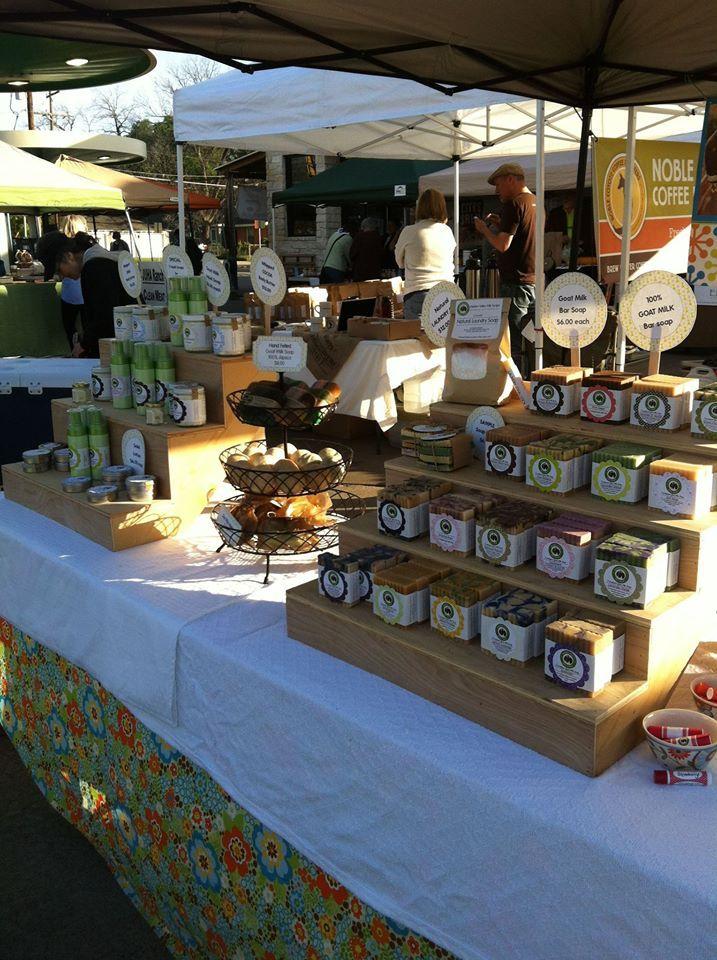 White Rock Farmer's Market goat milk soap booth setup ...