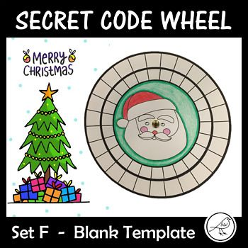 Children love mystery and being a detective! Your students will have so much fun making and using these secret code wheels during the Christmas season. This template has 26 blank spaces on both of the wheels. Write the alphabet on the outer wheel and make up a code for
