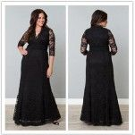 Plus Size Mother of the Bride Lace Gown: Sz 6 - 28