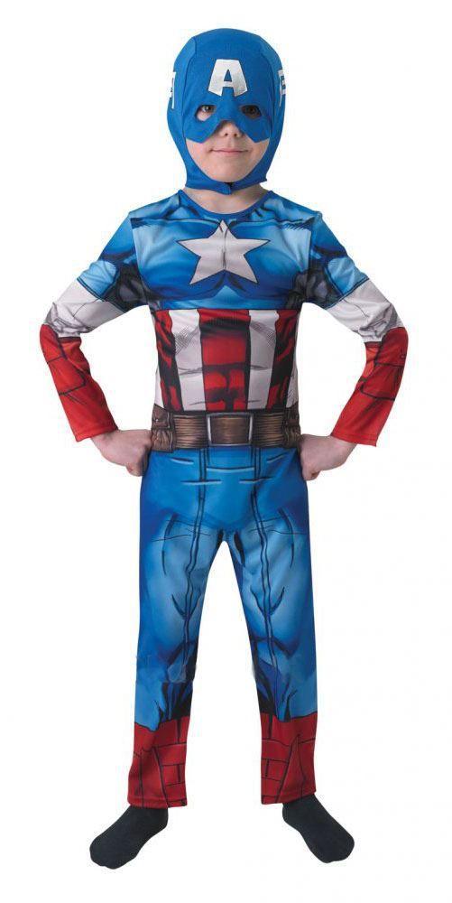 Childrens Avengers Assemble Kids Captain America Superhero Fancy Dress Costume - The Dragons Den Fancy Dress