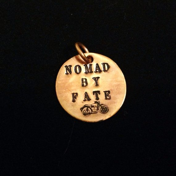 10 best hand stamped pendants images on pinterest hand stamped nomad by fate pendant by lyricsofheart on etsy 25 of the net profits for this mozeypictures Gallery
