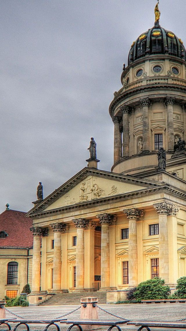Berlin – French Cathedral iPhone 5 wallpapers, backgrounds, 640 x 1136 - Germany