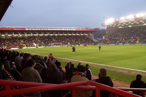 Bristol City- Ashton Gate by ben_afcb, via Flickr. Though more famed for its footballing residents, Ashton Gate also holds a record for the largest Premiership Rugby crowd outside Twickenham, when Bristol beat local rivals Bath 16-6 in December 2006.